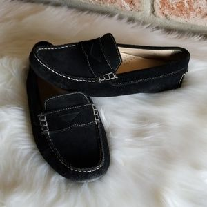 Cole haan black suede loafers nike air insole